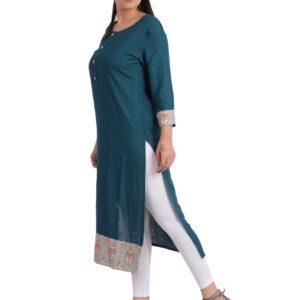 Jaipuri Women Solid Straight Kurta