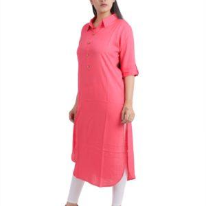 Jaipuri Women Pink Designer Kurta