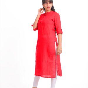Jaipuri Women Red Designer Kurta