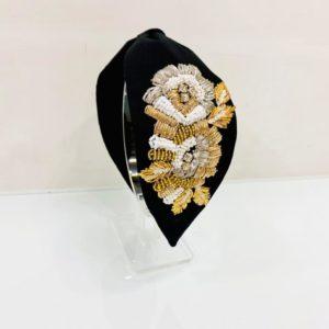 Handcrafted Black Designer Head Band
